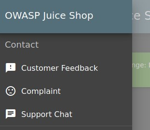 OWASP Juice Shop  Contact  Customer Feedback  Complaint  Support Chat