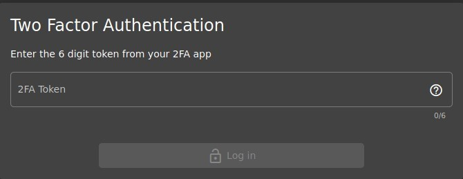 Factor Authentication  Enter the 6 digit token from your 2FA app  2FA Token  o